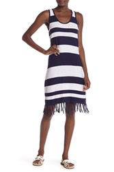 Tommy Bahama Knit Stripe Cover Up Dress Mare Navy