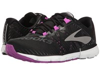 Brooks Neuro 2 Black Purple Cactus Flower White Women's Running Shoes