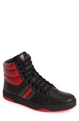 Gucci 'Ronnie' High Top Sneaker Men Black Red Green