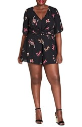 City Chic Plus Size Akari Floral Romper
