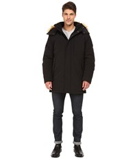 Marc New York Niagra Down Filled Oxford Twill Parka W Faux Fur Trimmed Removable Hood Black Men's Coat