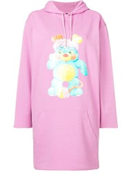 Jeremy Scott Printed Sweatshirt Dress Pink
