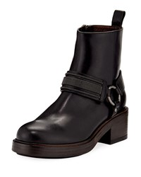 Brunello Cucinelli Leather Riding Ankle Boot Black