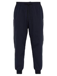 Y 3 Luxe Topstitched Track Pants Navy