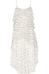 Maiyet Fluid Wave Printed Silk Crepon Midi Dress White