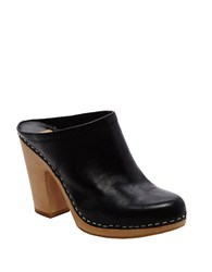 Dolce Vita Ackley Leather Mules Black