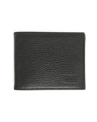 Armani Collezioni Black Grained Leather Wallet With Coin Purse Inside
