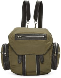 Alexander Wang Green Nylon And Leather Marti Backpack