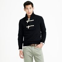 J.Crew Wallace And Barnes Boiled Wool Toggle Sweater