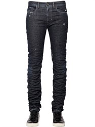 Diesel Black Gold 17Cm Slim Distressed Raw Denim Jeans