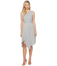 Mod O Doc Cotton Modal Spandex Jersey Faux Wrap Tie Back Dress Smoke Heather Women's Dress Gray