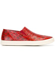 Rick Owens Boat Sneakers Red