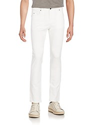 J. Lindeberg Straight Slim Fit Jeans White
