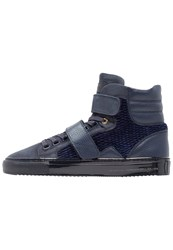 Android Homme Propulsion Hightop Trainers Navy Blue