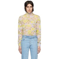 Prada Purple Flower Patch Turtleneck