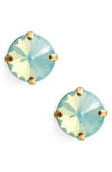 Sorrelli Radiant Rivoli Crystal Earrings Blue Green Gold