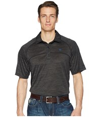 Ariat Basic Charger Polo Charcoal Short Sleeve Pullover Gray