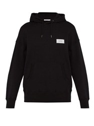 Givenchy Atelier Patch Cotton Hooded Sweatshirt Black