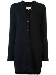 Maison Martin Margiela Bi Colour Ribbed Cardigan Black