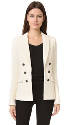 Veronica Beard Peninsula Peak Lapel Blazer Beige