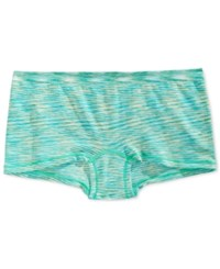 By Jennifer Moore Seamless Boyshort Only At Macy's Turquoise Spacedye