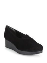 Robert Clergerie Nalo Suede Wedge Loafers Black