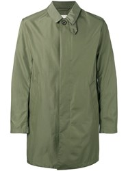 Mackintosh Single Breasted Coat Men Polyamide 42 Green