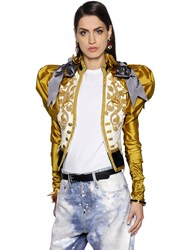Dsquared Embroidered Duchesse And Velvet Jacket