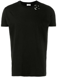 Saint Laurent Star Print T Shirt Black
