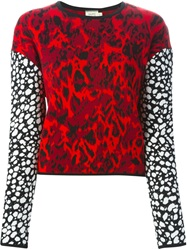 Fausto Puglisi Intarsia Knit Sweater Red
