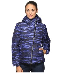 Merrell Copenhagen Featherless Jacket Violet Storm Print Women's Coat Blue