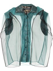 Y Project Pop Up Sleeveless Blouse Green