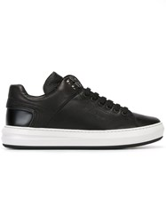 Salvatore Ferragamo Classic Lace Up Sneakers Black