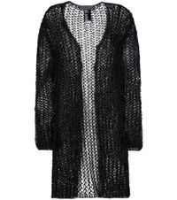 Haider Ackermann Cotton And Mohair Blend Open Cardigan Black