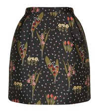 Red Valentino Floral Jacquard Skirt Female Green