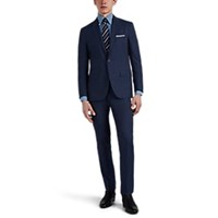 Sartorio Pinstriped Wool Two Button Suit Blue