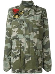 Mr And Mrs Italy Camouflage Military Jacket Green