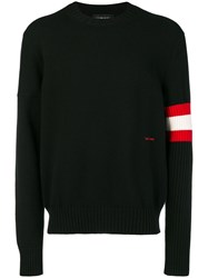 Calvin Klein 205W39nyc Striped Sleeve Sweater Black