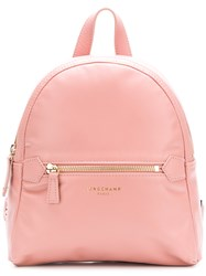 Longchamp Small Zipped Backpack Pink And Purple