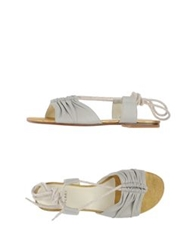 Michel Perry Sandals Light Grey