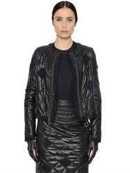 Maison Martin Margiela Quilted Nappa And Organza Jacket W Chain