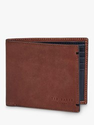 Ted Baker Farthin Leather Bifold Wallet Tan