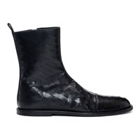 Ann Demeulemeester Black Slits Zip Up Boots