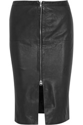 Muubaa Saon Leather Pencil Skirt Black