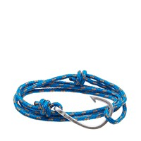 Miansai Silver Hook Rope Bracelet Blue