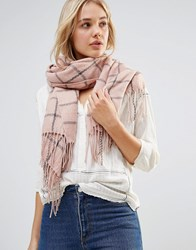 Lavand Check Oversized Scarf Pink