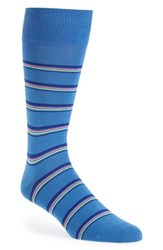 Men's Paul Smith Neon Stripe Socks Blue