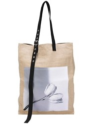 Raf Simons Robert Mapplethorpe Large Photographic Tote Bag Men Hemp One Size Nude Neutrals