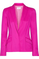 Thierry Mugler Stretch Wool Twill Blazer Magenta