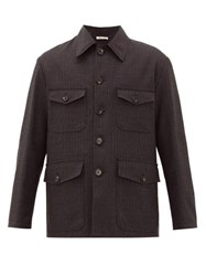 Marni Four Pocket Checked Wool Jacket Black